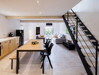 Nieuwe appartement centrum Céret,overdekt terras zich op Canigou