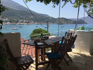 ' Vathi View. Traditional Greek house with stunning views over the Bay of Vathi.