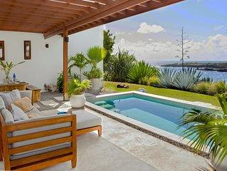 Caribbean Modern Ocean Front Villa, 2 Bedrooms