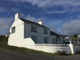 Luxury Farmhouse - Porthdafarch  - Sea Views, 150m from Beach, Wood-burners
