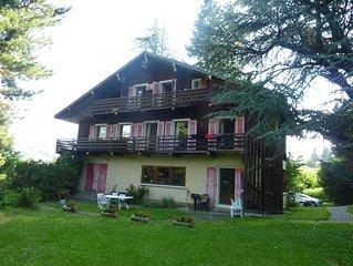 A louer appartement  en duplex dans chalet familial avec jardin coeur de Megeve