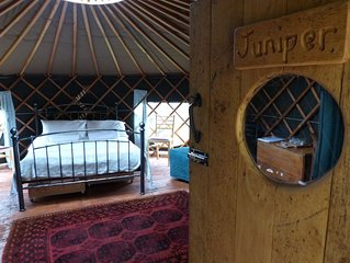 Juniper Yurt - One Bedroom Camping, Sleeps 4
