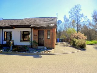 Self-catering 2 bedroomed bungalow with enclosed rear garden.