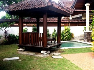 Family Villa with Private Pool & Garden, 2BR, Kitchen, Living Room and Free wifi