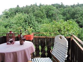 Stilvolle Baden-Badener 68 qm Ferienwohnung - zentrale Lage und Blick ins Grüne