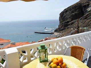 Strandnahes Ferienhaus mit Terrasse und Meerblick