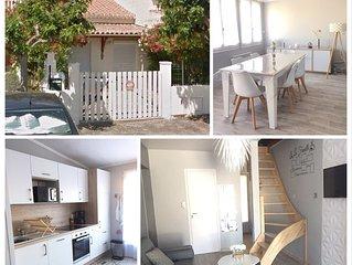 Villa T4 - 150m de la plage  - jardin - St Pierre La Mer - meublé de tourisme 3*