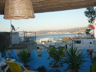 Wonderful large 3 bed town house with stunning roof terrace + sea view in Kasbah