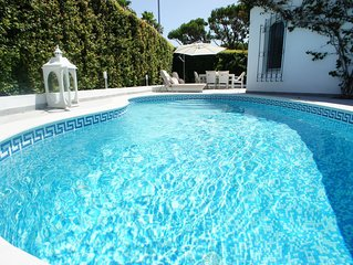 Dunas Douradas Luxury Villa with private heated pool. Walk to Beach in Minutes