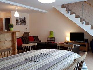 Duplex 6-8 personnes de 95 m2 au coeur du Haut Jura ( 39 ).
