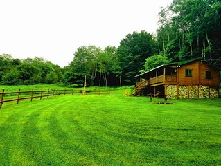 Cozy Private Cabin in Livingston Manor and steps to the Willowemoc River!