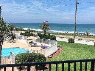 Flagler Beach Condo - Newly Redecorated - Pet Friendly - Ocean View from LR & MB