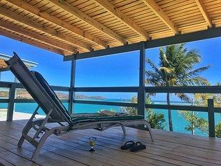 NEW* Sunny Oceanfront Villa: Large Decks, Amazing View