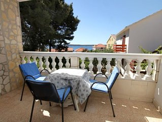 One bedroom apartment with terrace and sea view Zavala (Hvar) (A-8799-c)