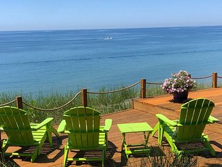 Stunning Lake Michigan Views with 110 Feet Private Beach on One Acre