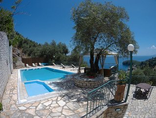 Amazing east side view of Corfu with private pool