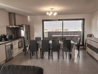 Villa moderne pour 10 pers. sur les dunes entre mer et lagune. St Cyprien Wifi