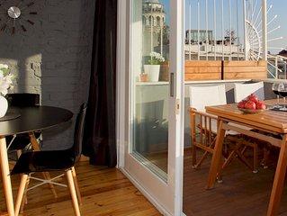 Private terrace, charm & views in Galata!