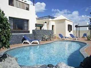 Villa Eileen with Private Electrically Heated Pool, Pool Table & Dart Board