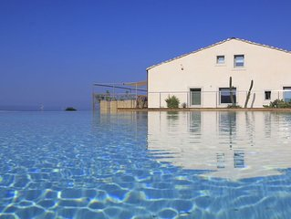 Elegant Resort with panoramic pool in the countryside near the sea