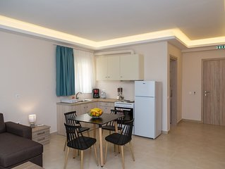 Beach specious Apartments in great location in Alykes, right on the sea!