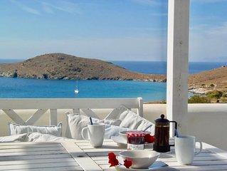 Delfini Beach, Syros - Paradise Location - Beautiful Villa - Best Beach