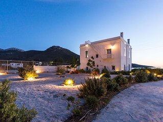 Amorgos Katapola beach apartment, sunset view