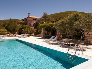 Beautiful stone villa with spectacular views of countryside,sea and Kephalonia