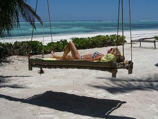 PRIVATE VILLA on the beach , luxury and fully staffed on Zanzibar's Golden Mile