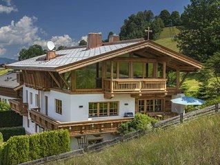Traumhaft schönes Chalet/ Ferienhaus, in den Bergen an der Skipiste Kitzbühels