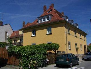 Ruhig aber verkehrsgünstig gelegene Ferienwohnung in der Welterbestadt Bamberg
