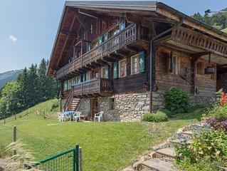 Val-d'Illiez, Grand chalet de vacance a louer disposant d'un cadre fantastique.
