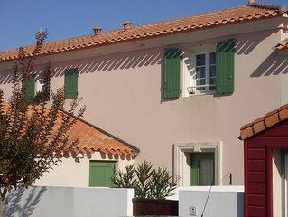 Maison dans résidence privée à 900 m de la mer/commerces avec tout confort