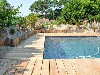 Mimizan grande maison renovee avec piscine proche plage et piste cyclable