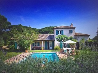 Saint Tropez Ramatuelle 7 bdr aircon villa heated pool on Cap Camarat 10mn beach