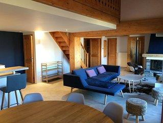 Superbe duplex ,vue degagee, dans residence avec piscine, acces skis au pieds