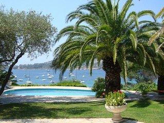 Villa de charme en bord de mer à 10m de la plage Agay-Vue exceptionnelle-Piscine