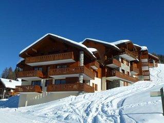Appartement Paradiski 4 pieces 8 personnes 50m2 ski au pied Vallandry