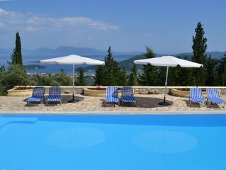 Lovely Quiet & Private Villa with Pool and Spectacular Panoramic Sea Views