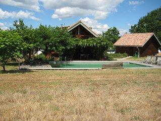 Luxurious Log House with 10 x 5 pool