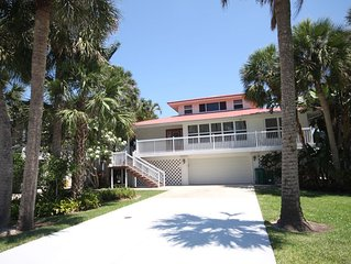 Spacious Private 4 Bedroom Waterfront Pool Home - Walk to Beach!