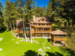 Gorgeous log home rests on 330 ft of fabulous Flathead Lake frontage! Sleeps 8!