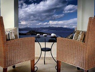 Beautiful seaview villa with private sea water pool