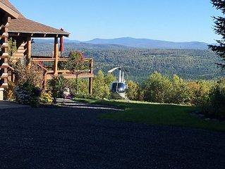 Beautiful Log Home w/ Mountain and Lake Views & Hot Tub-Sleeps 8