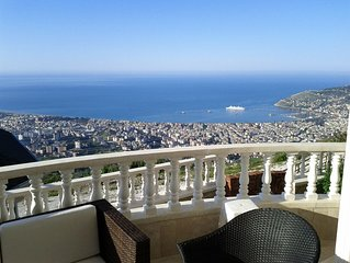 Beautiful view villa with private pool located on the top of the mountain behind