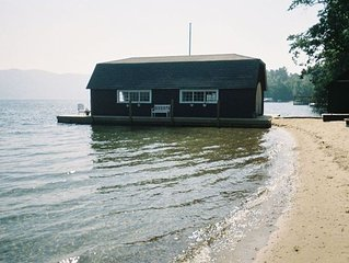 Great swimming beach! Private 384' Sandy Shoreline,Dock,4bdr cottage on 4.8acres