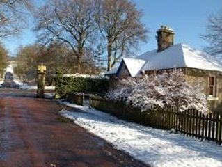 Eagle Lodge, Gatehouse adjacent to A73, Carmichael Country Cottages.  Pets Welco