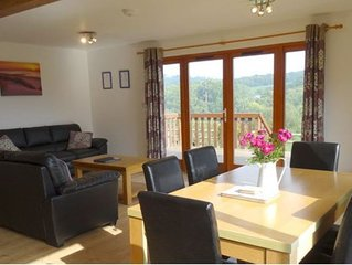 A spacious lodge in a secluded and peaceful setting with beautiful views..
