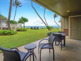 Waterfront condo on ground floor w/ shared pool, ocean views, & beach access