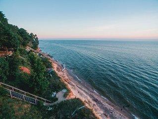 Lake Michigan beachfront home - Sleeps 12